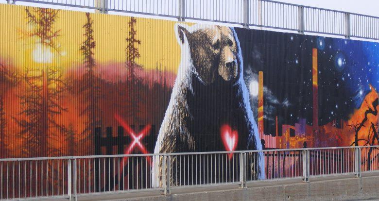 Une murale collective: Hommage à Richard Desjardins