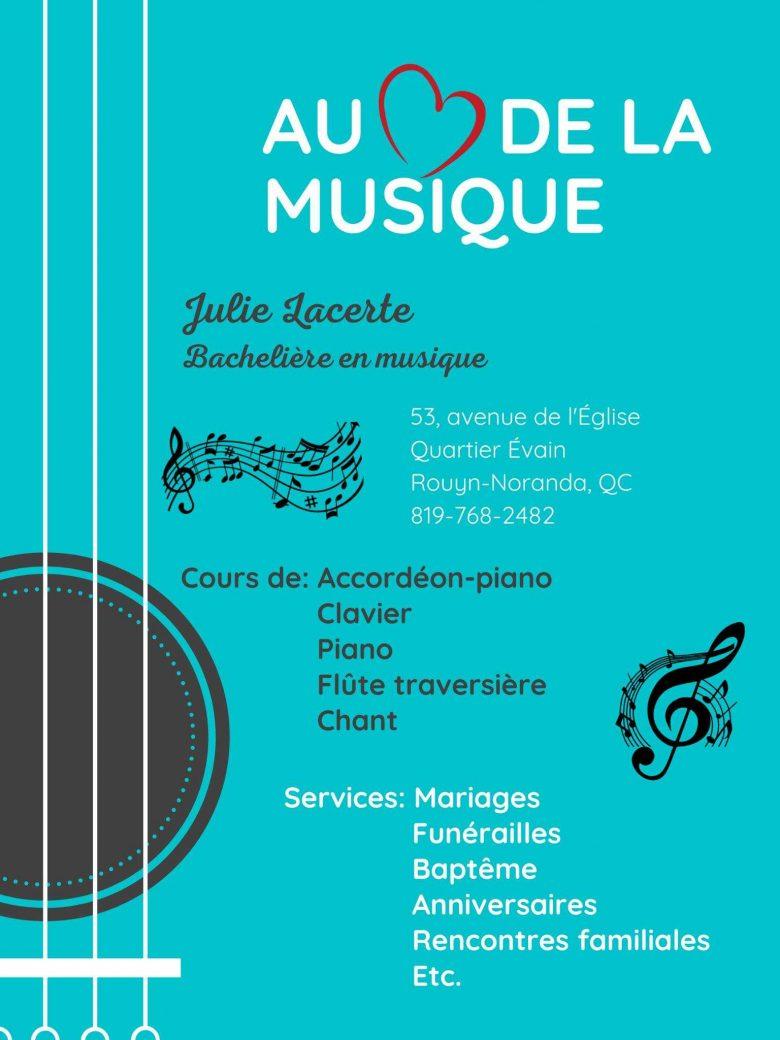 Julie Lacerte - Au coeur de la musique