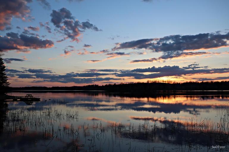 Au lac Hélène (à Évain, Rouyn-Noranda)