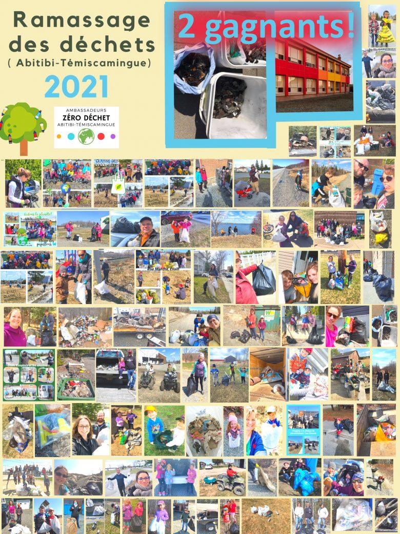 Photos de participants au nettoyage des terrains