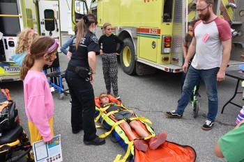 Démonstration des ambulanciers