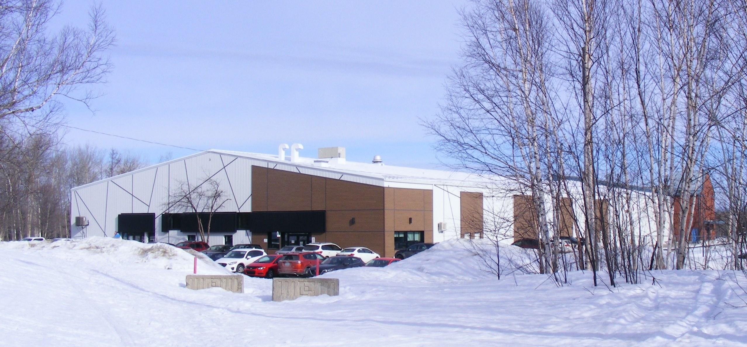 Centre communautaire d'Évain, en hiver