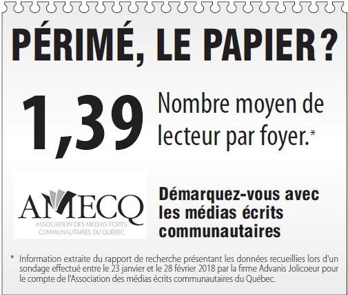 Journal papier : en moyenne 1,39 lecteur par foyer...