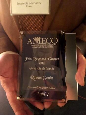Prix Raymond-Gagnon 2019 - Bénévole de l'année