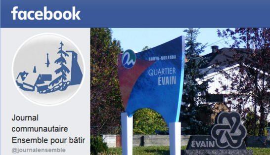 Page Facebook du journal Ensemble pour bâtir