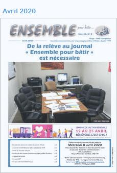 Journal Ensemble pour bâtir, avril 2020