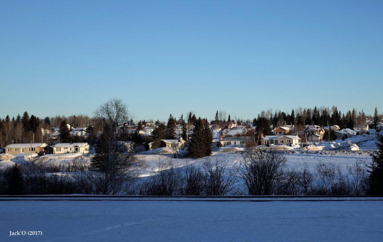 Route 117 et voie ferrée, sous la neige