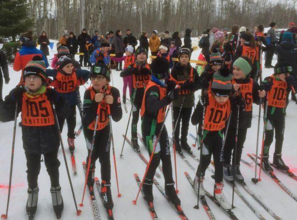 Départ groupé au Club de ski de fond d'Évain