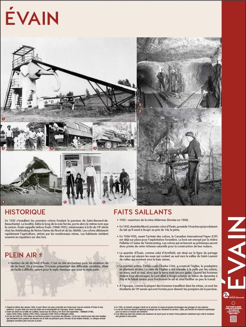 Historique d'Évain