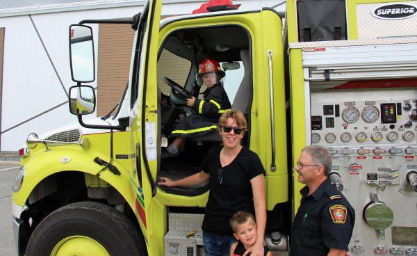 Visite des camions de pompiers