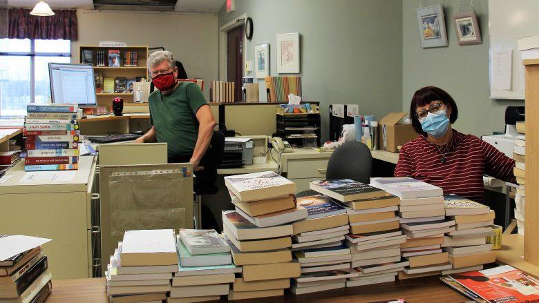Tout un chantier à la bibliothèque d'Évain