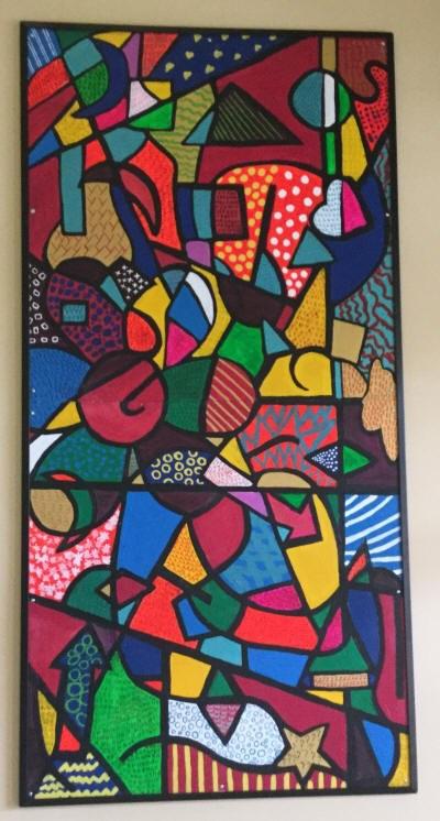 Une oeuvre collective dans une école d'Évain.