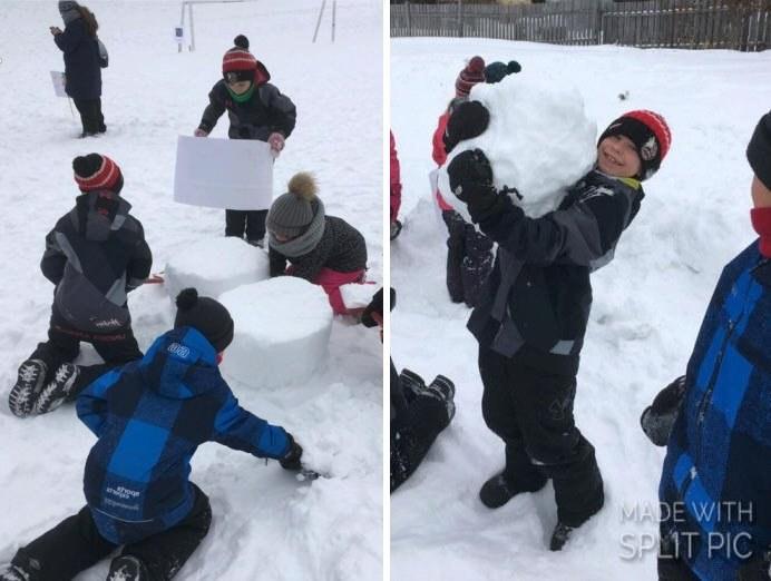Sculptures de blocs de neige