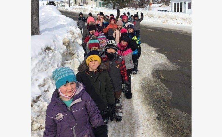 Écoles d'Évain, hiver 2021