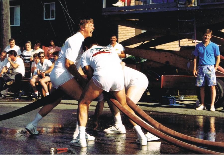 Tournoi de pompiers en 1987