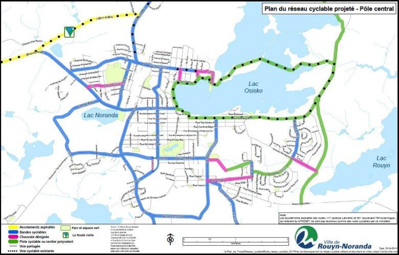 Plan Reseau Cyclable Projete