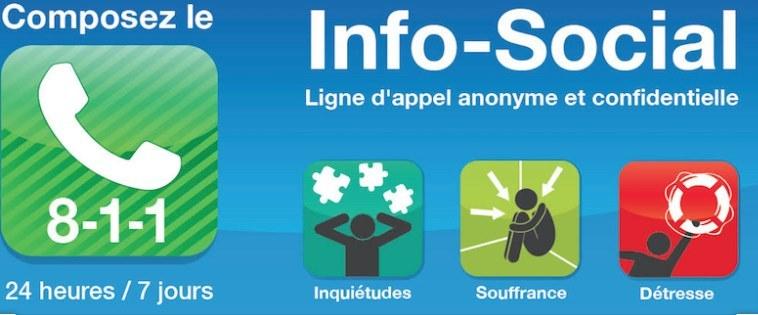 Composez le 811, Info-Social, ligne d'appel anonyme et confidentielle