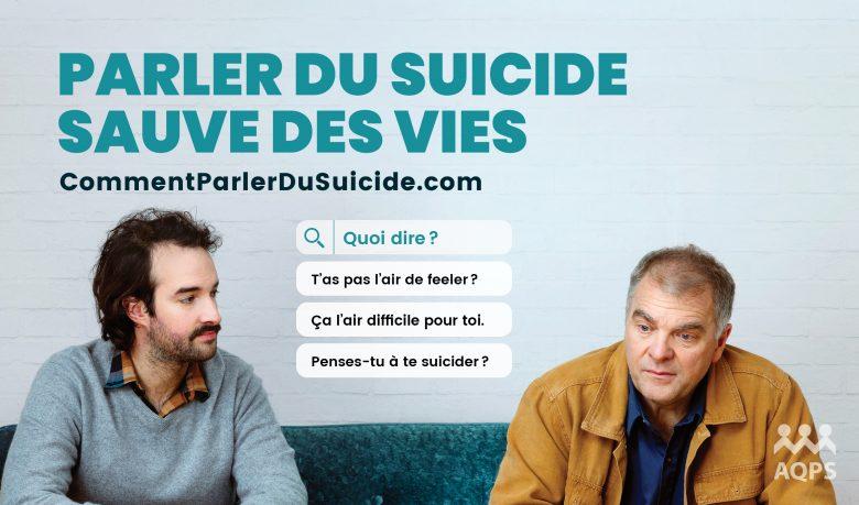 Parler du suicide sauve des vies