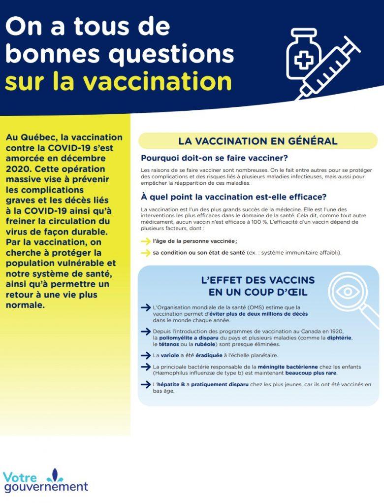 Pourquoi doit-on se faire vacciner?