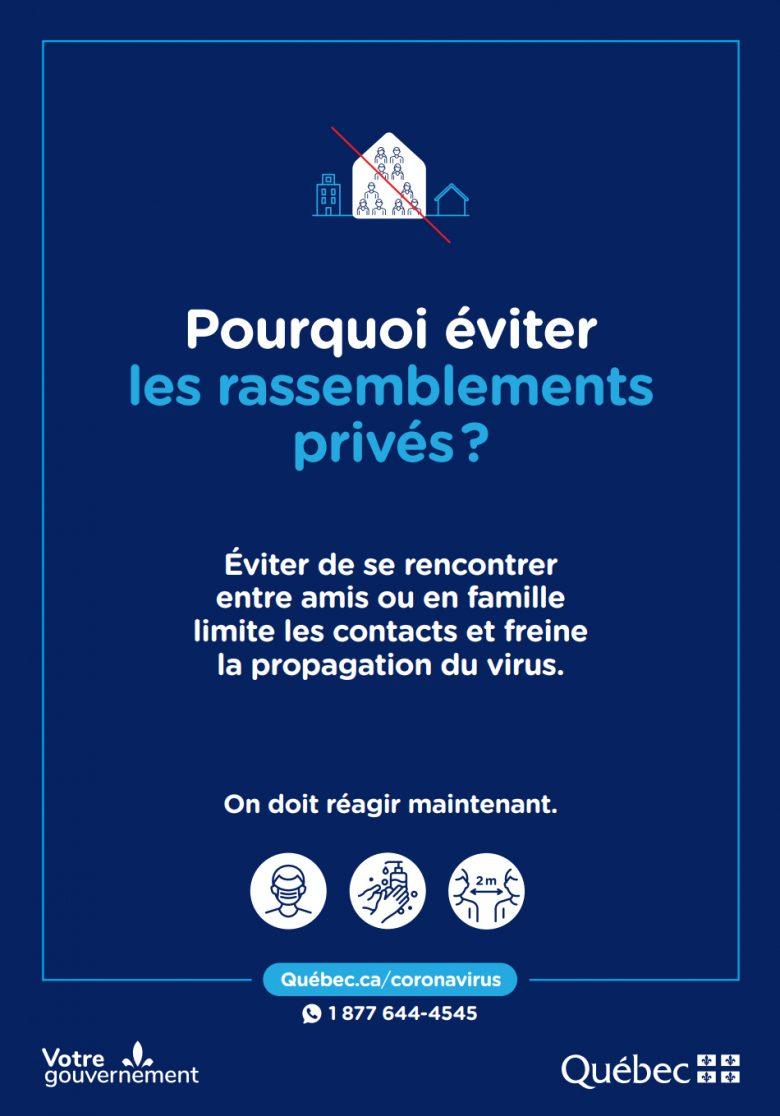 Éviter de se rencontrer entre amis ou en famille limite les contacts et freine la propagation du virus.