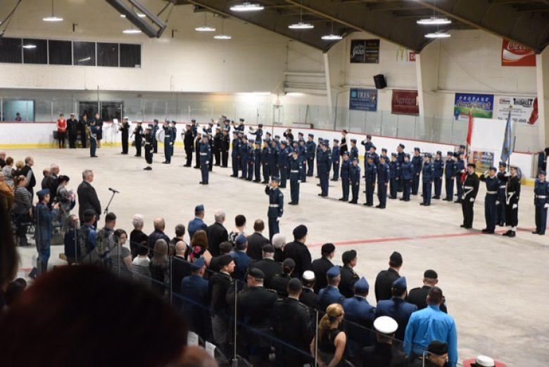 Parade au Centre communataire d'Évain avec les Corps de cadets 2017