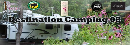 En-tête dans la page Facebook du projet Destination Camping 08