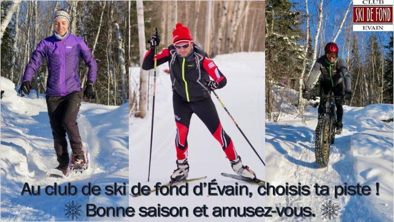Raquette, ski de fond et fatbike