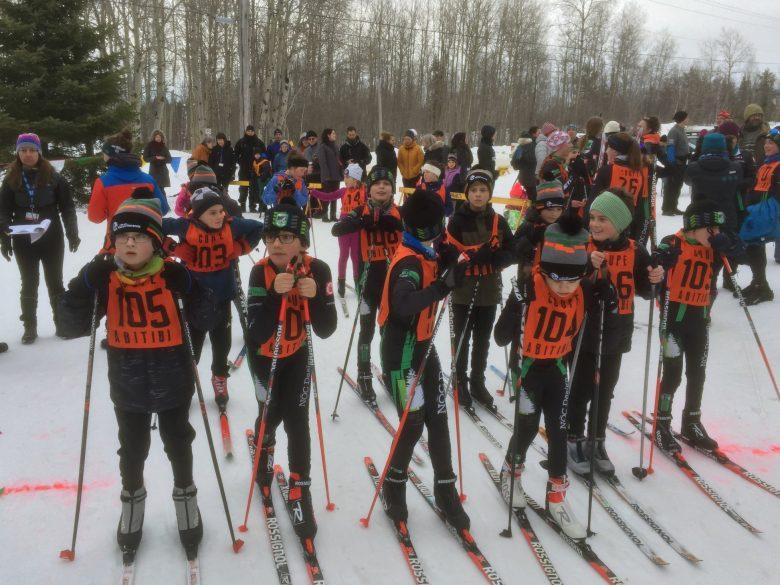 Photo Départ Groupé Au Ski De Fond